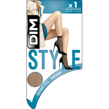 Socquettes noires résille Style-DIM