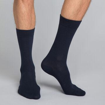 Mi-chaussettes classique coton X3 bleu Homme Basic Coton-DIM