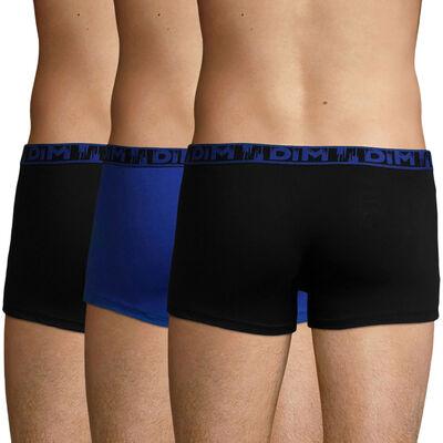 Pack de 3 bóxers de algodón elástico negro y azul Ecodim Mode , , DIM
