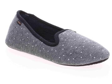Chaussons type charentaises gris Femme-DIM