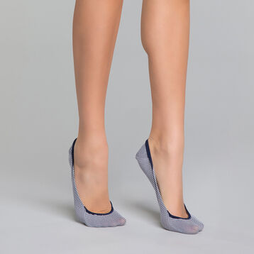 Pinkies mujer de rayas azul marino - Invisifit  , , DIM