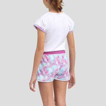 Pijama corto 2 piezas 100% algodón para niña Violine, , DIM