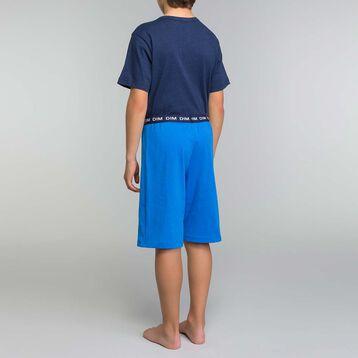 Pijama corto de algodón azul eléctrico niño - Break the rules, , DIM