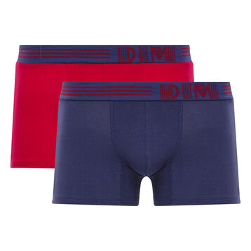 Pack de 2 bóxers rojo y azul - Soft Touch Pop, , DIM