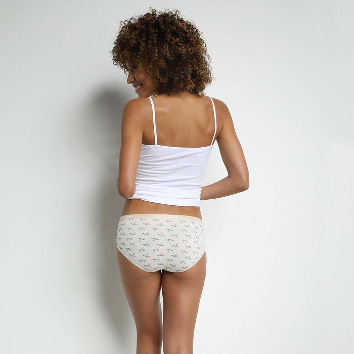 Pack de 3 bragas tipo bóxer de algodón elástico con mensajes femeninos Les Pockets, , DIM