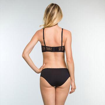 Braguita negra de encaje y microfibra Daily Glam Trendy Sexy, , DIM
