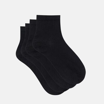 Pack de 2 pares de calcetines bajos negros de hilo de Escocia Dim, , DIM