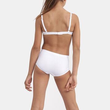 Pack de 2 culottes blancos para niña de algodón BIO, , DIM