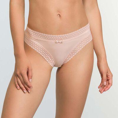 Braguita para mujer Skin Rose de microfibra y encaje Trendy Micro, , DIM