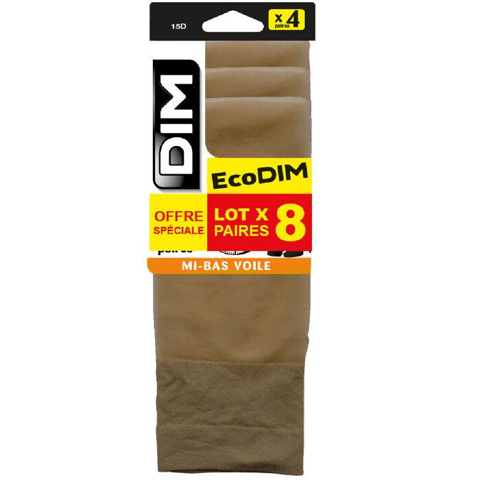 Pack de 4 pares de medias daim EcoDIM 15D, , DIM