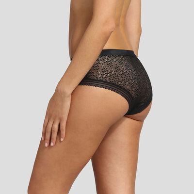 Culotte negro de encaje y microfibra Mod de Dim, , DIM