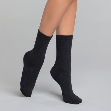 Calcetines grises de algodón  - Dim Basic Coton, , DIM