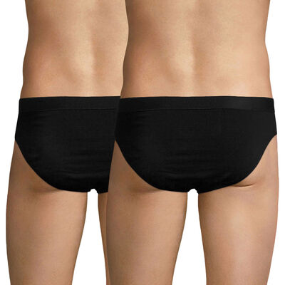 Lot de 2 slips noirs EcoDIM en coton stretch-DIM