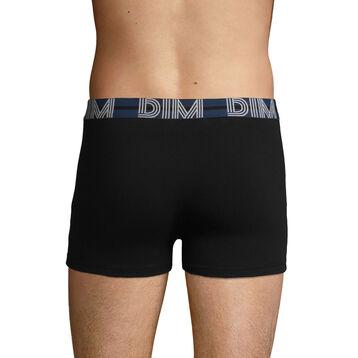 Bóxer negro de algodón elástico la cintura azul Dim Powerful, , DIM