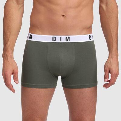 Bóxer verde caqui de algodón modal Dim Originals, , DIM