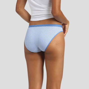Pack de 3 braguitas estampadas Costa Azul Les Pockets Coton Stretch de Dim, , DIM