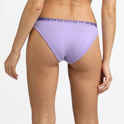 Braguita de talle alto de algodón lila Originals Cotton, , DIM