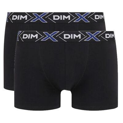 Lote de 2 bóxers negros X-Temp de algodón elástico, , DIM