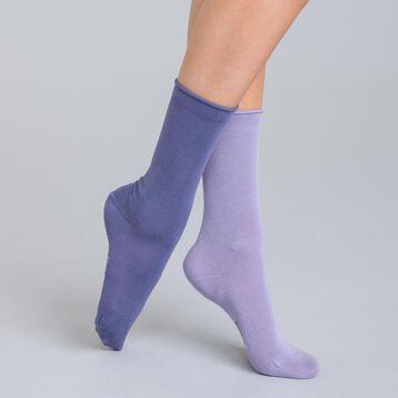 Lot de 2 chaussettes lilas et lavande en modal Femme-DIM
