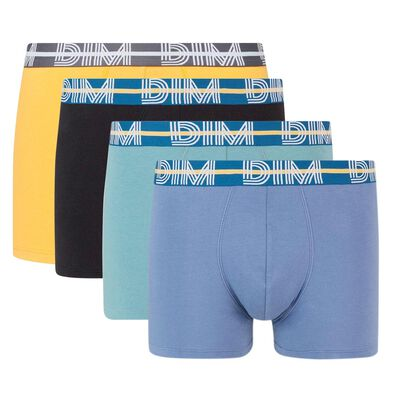 Pack de 4 boxers coton stretch cintura gráfica Dim Powerful, , DIM