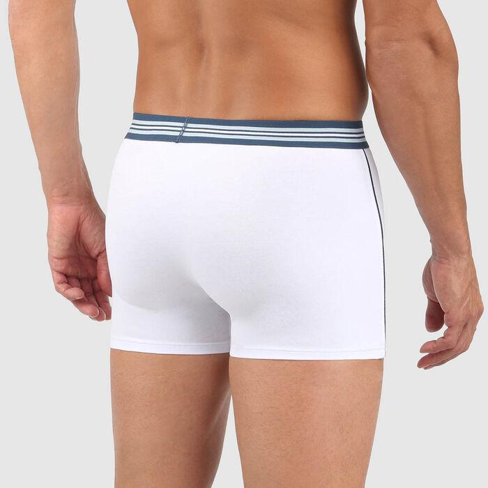 Men's stretch cotton trunks White Smart Boxer, , DIM