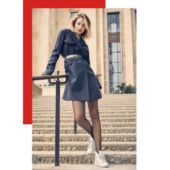 Collant noir Résille 73D Madame so Fashion-DIM