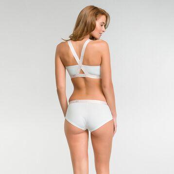 Top triangular de algodón blanco marfil - Les Pockets, , DIM