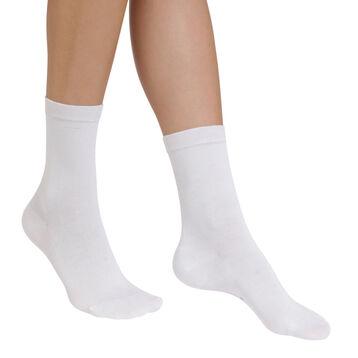 Chaussettes blanches hydratantes Sublim Femme-DIM