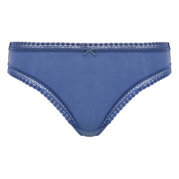 Braguita azul porcelana de microfibra Micro Lace Bar à Culottes, , DIM