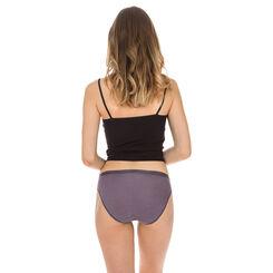 Lot de 3 slips noirs Femme Les Pockets Coton-DIM