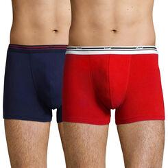 Pack de 2 bóxers de algodón elástico rojo y azul denim Daily Colors , , DIM