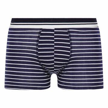 Bóxer de rayas azul de algodón elástico - Summer SEA DIM, , DIM
