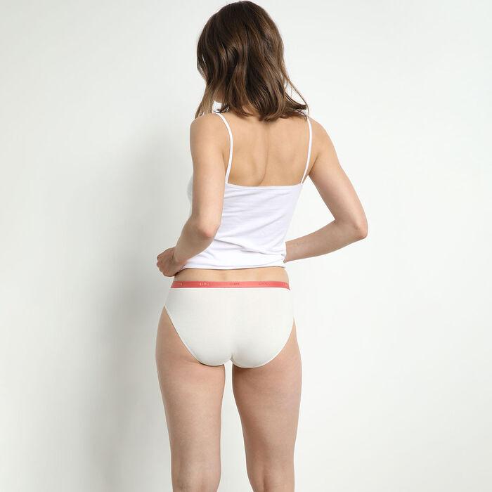 Pack de 5 bragas tipo slip de algodón elástico con mensajes femeninos Les Pockets, , DIM