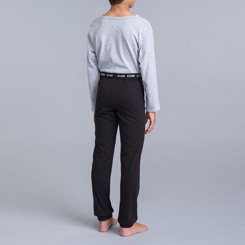 Pyjama 2 pièces t-shirt gris et pantalon noir DIM Union Jack-DIM