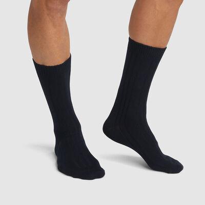 Pack de 2 pares de calcetines altos para hombre en viscosa negra Dim Bambou, , DIM