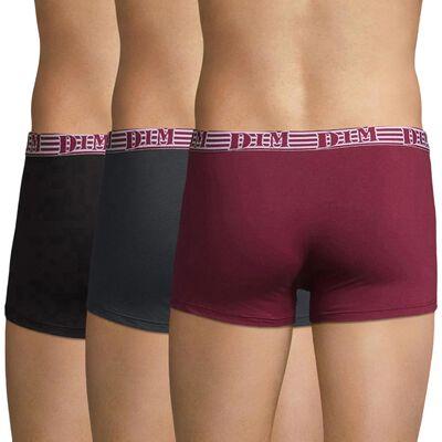 Lot de 3 boxers rouge et gris Fashion 2.0-DIM