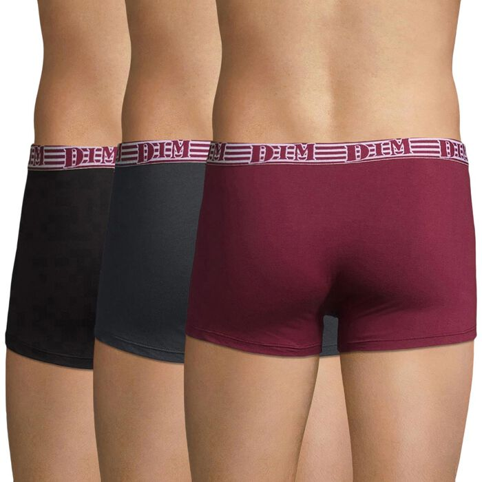 Lot de 3 boxers rouge et gris Fashion 2.0-DIM