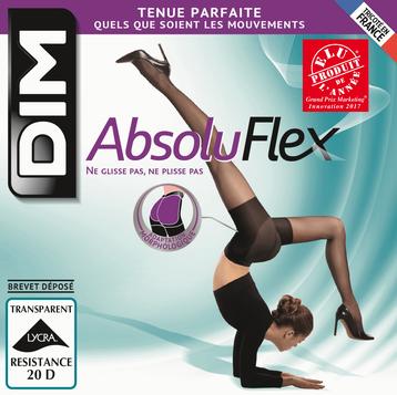 Collant caramel AbsoluFlex transparent 20D-DIM