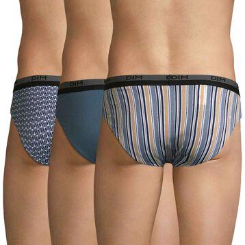 Pack de 3 slips de algodón estampado eclipse - Coton Stretch, , DIM