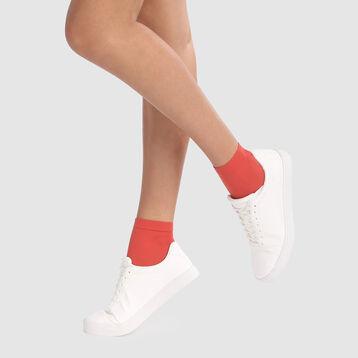 Pack de 2 pares de mini medias rojas manzana opacas aterciopelado Style de Dim 50D, , DIM