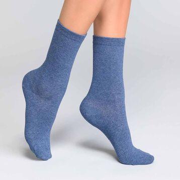 Calcetines azul denim de algodón Mujer - Dim Coton Basic, , DIM