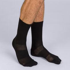 Pack de 2 pares de calcetines de media pantorrilla negros hombre 3D Flex, , DIM
