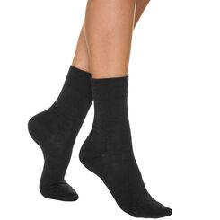Calcetines negros para mujer de lana, , DIM