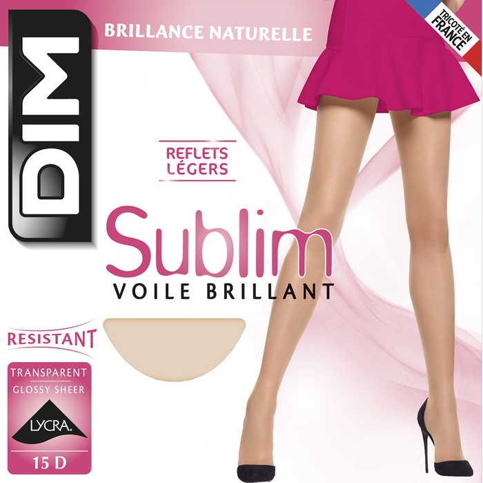 Collant noir Sublim Voile Brillant 15D-DIM