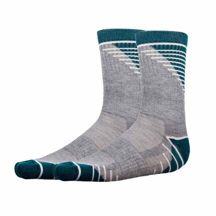 Pack de 2  pares de calcetines de impacto medio grises y verdes Hombre - Dim Sport, , DIM