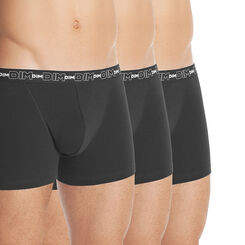 Lot de 3 boxers noir Homme en coton stretch-DIM