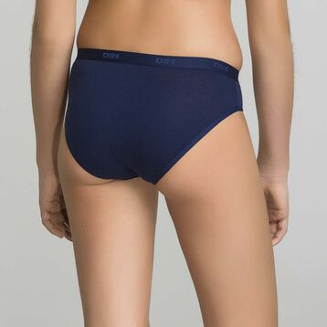 Pack de 3 braguitas de niña de algodón azul marino - Pocket Stripes, , DIM