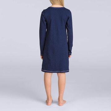 Camisón color azul marino bordado DIM GIRL-DIM