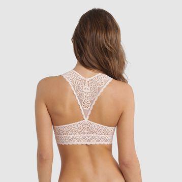 Bralette de encaje rosa bailarina - Sublim Fashion, , DIM