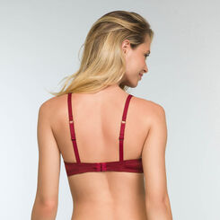 Sujetador triangular push-up rojo Sublim Dentelle , , DIM